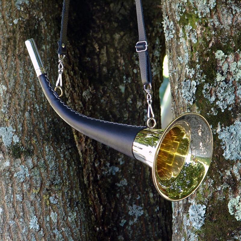 Pibole 40cm gainée cuir avec lanière réglable