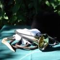 Pibole 30cm gainée cuir avec lanière réglable