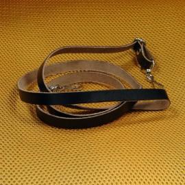 Lanière réglable en cuir noir
