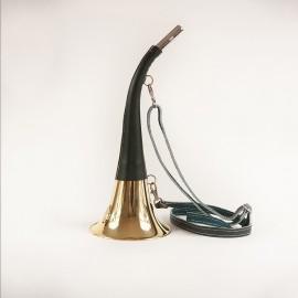 Corne 40cm gainée cuir et motif en relief