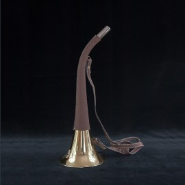 Trompe 50cm gainée cuir et motif sanglier